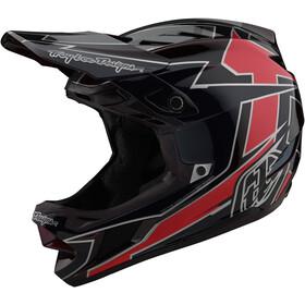 Troy Lee Designs D4 Composite Helm rot